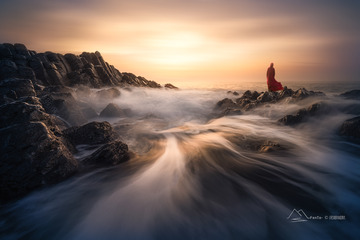 玄武岩与海