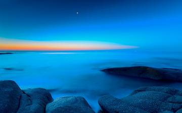青岛晨曦中的海