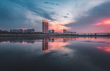 晚霞-锦州