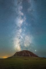 流星 银河 火山