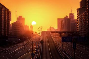 长安街悬日