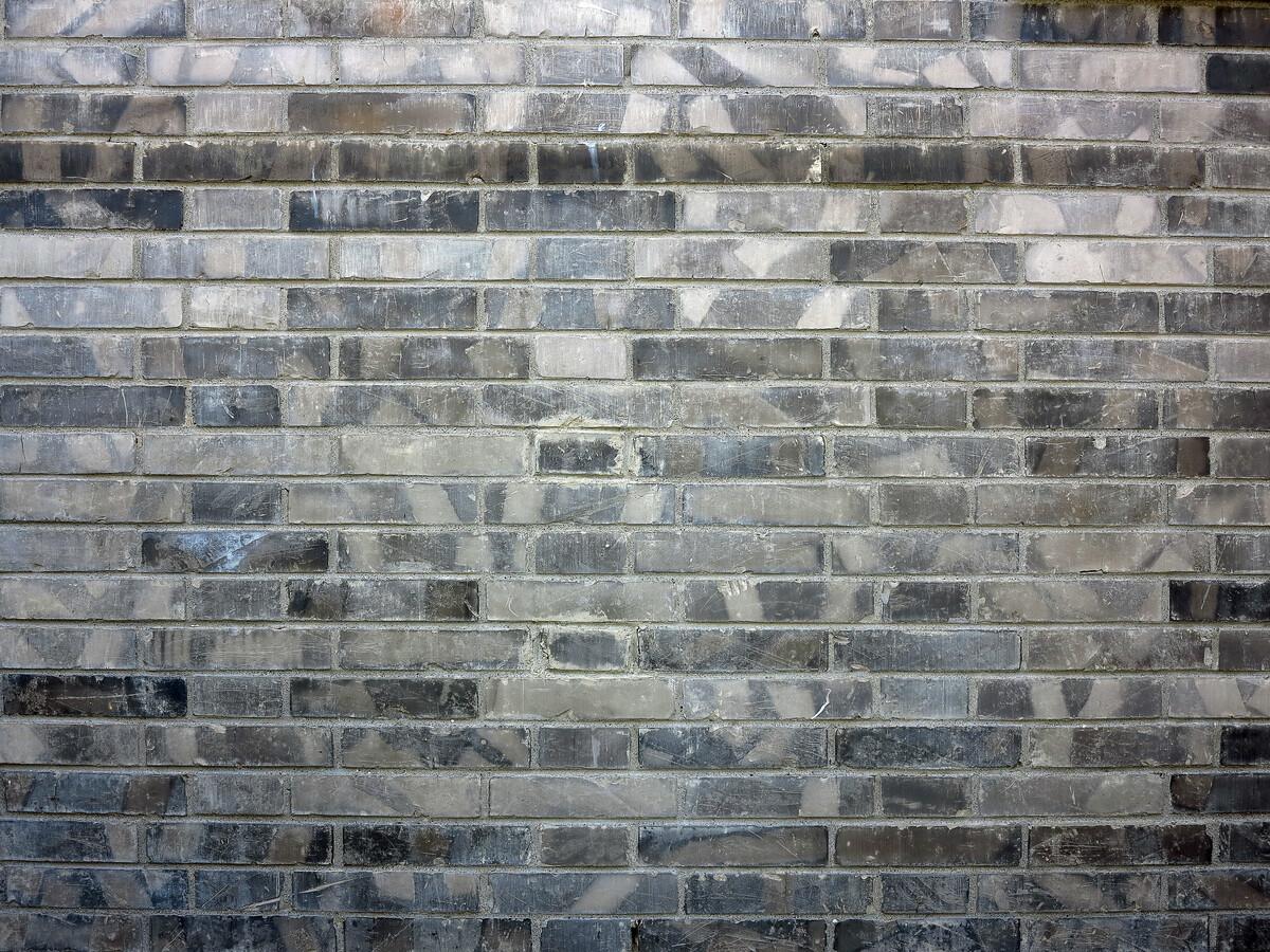 北京市人文地理风光,灯笼库胡同景象,老北京青砖建筑墙壁。