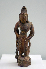 木雕菩萨像,西夏,宁夏银川西夏博物馆文物。
