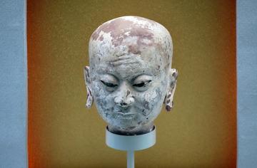 罗汉头像,西夏,宁夏银川西夏博物馆文物。001