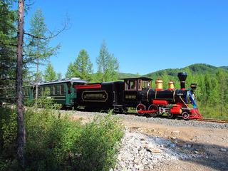 大兴安岭旅游景区森林小火车。 -
