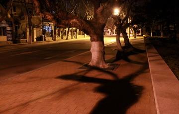 夜深了的大学路