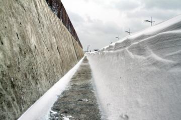 低角度看积雪