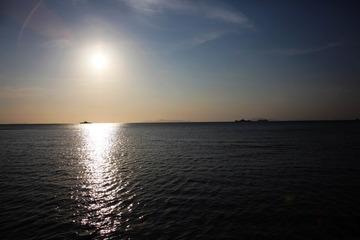 苏梅港口的夕阳