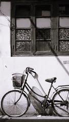 破旧自行车