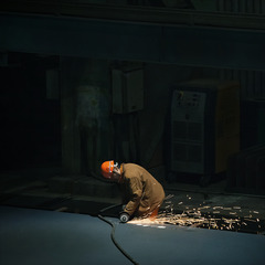 劳动者之歌---电焊工人