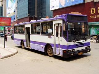 Suzhou bus at Shilu SK6105 苏州石路的上客牌SK6105P